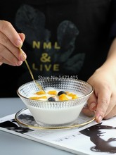 Estilo japonês tigela de vidro phnom penh dessertbowl pássaro ninho tigela salão de beleza saúde soupbowl taro bola breakfastbowl utensílios de mesa