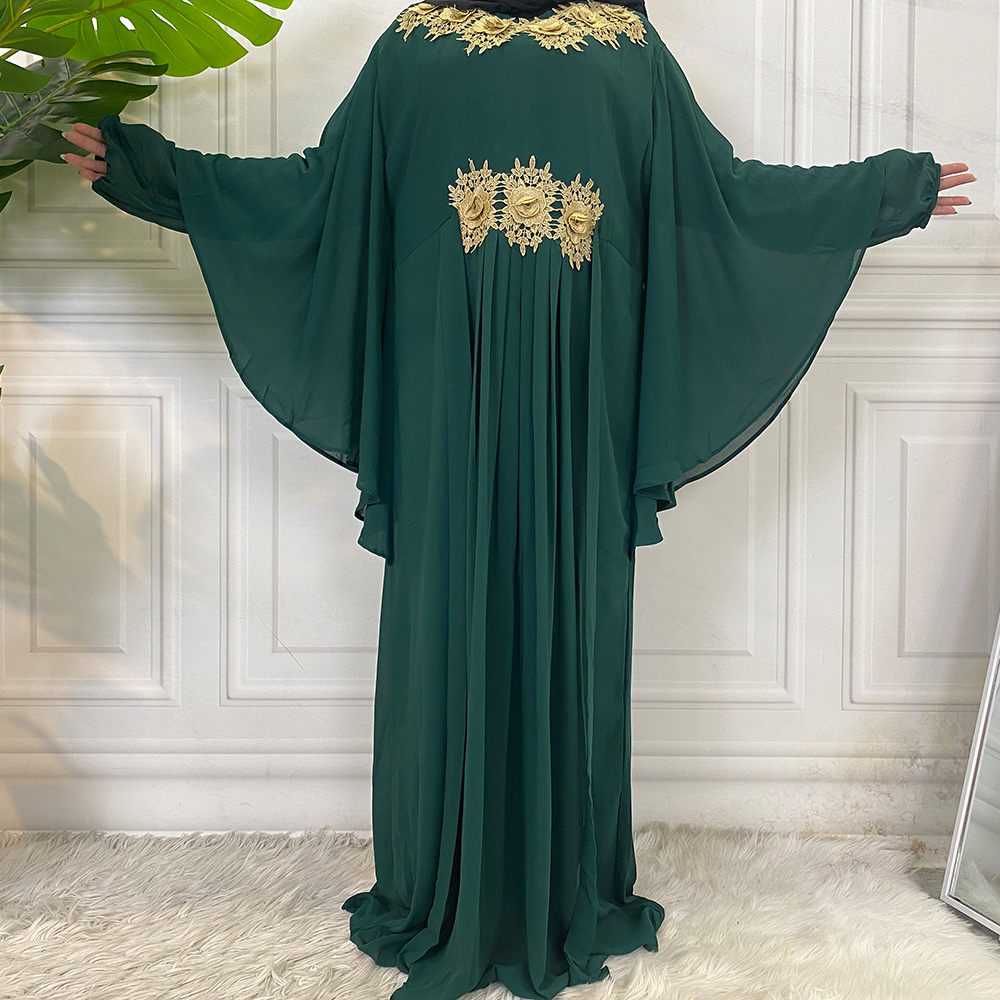Middle East Fashion Dubai Abaya Muslim For Women Hijab Dress Caftan Turkey Kaftan Ramadan Arabic Islamic Clothing Modest Robe 4