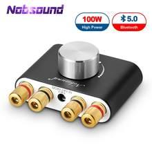Nobsound mini amplificador digital hifi stereo, bluetooth 2020, hifi stereo, receptor de audio sem fio, amp 50w + 50w, carro 5.0 amplificadores de som