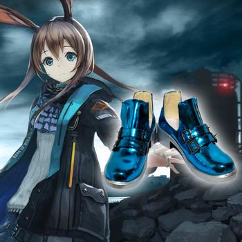 Amiya cos Arknights cosplay shoes canvas fashion shoes casual comfortable men women college anime cartoon student high help tanie i dobre opinie Unisex Dla dorosłych Kostiumy