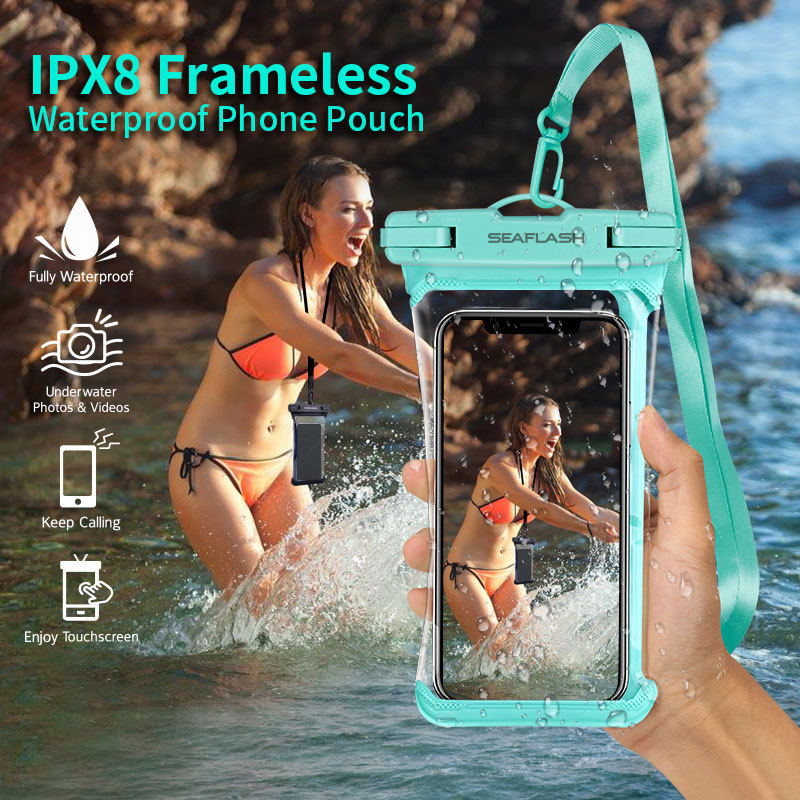 Full View IP68 Waterproof Phone Case Transparent Dry Diving Bag Swimming Pouch For iPhone 11 Pro Max 6.9 inch Mobile Phone Bag