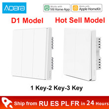 Xiaomi Aqara D1 Smart Wall Switch ZigBee Light Remote Control Wireless Key Zero Line Fire Wire No Neutral 3 Key Switchs Homekit