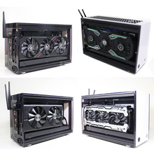 A50 Mini DIY Desktop Case ITX Motherboard Acrylick Transparent Gaming Computer Case With Power Supply radiator Kits