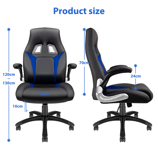 Furgle Gaming Chair Office Chair Swivel Chair Height-Adjustable Gaming Chair PC Chair Ergonomic Executive Chair with Armrests 5