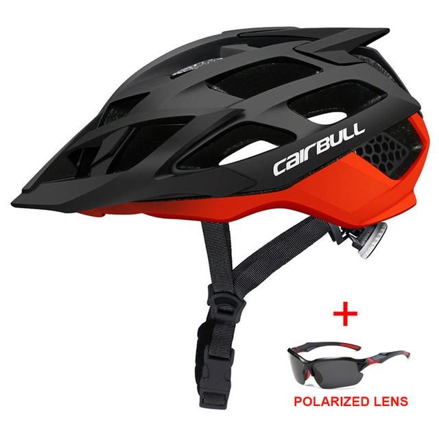 Mais novo trilha xc mtb capacete de bicicleta com óculos de sol ultraleve estrada da bicicleta de montanha capacete in-mold corrida ciclismo capacetes 5