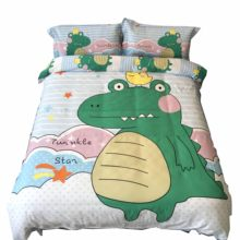 Cute Cartoon Bedding Set Twin Queen King Size Cotton Printed Dinosaur Pig Hero Altman and Princess for Kids Boy and Girl(China)