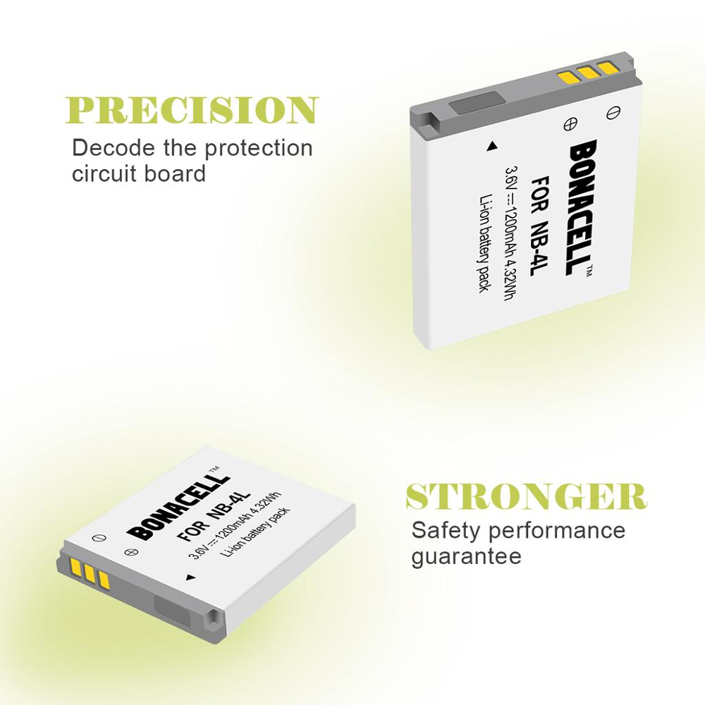 More!! Replacement NB-4L Battery For Canon PowerShot Elph 100 HS ...