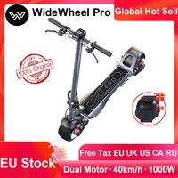 Mercane WideWheel Pro Kickscooter eléctrico, patín de ruedas anchas con freno de disco de doble Motor, aeropatín, almacén de la UE, 2020