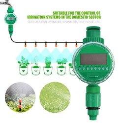 Automatyczny inteligentny kontroler nawadniania wyświetlacz LCD podlewanie zegar wąż kran zegar zewnętrzny wodoodporny automatyczny On Off w Liczniki ogrodowe do wody od Dom i ogród na