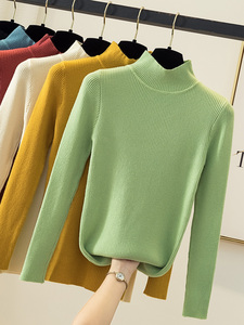 ON SALE 2020 Autumn Winter women long sleeve turtleneck Tight stretch pull sweaters office pullover korean clothes clothing(China)