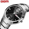 Мужские часы DOM  брендовые Роскошные наручные часы с отображением недели  водонепроницаемые  с календарем  деловые кварцевые мужские часы  п...