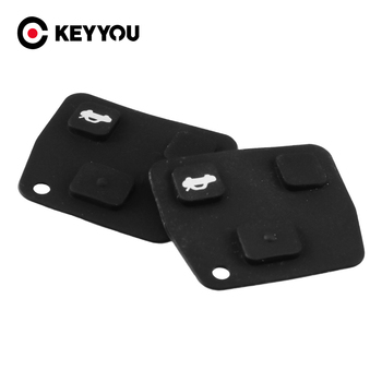 KEYYOU For TOYOTA Avensis Corolla For Lexus Rav4 Replacement Car Key Cover Black Silicon Rubber Repair Pad Cover 2/3 Buttons image