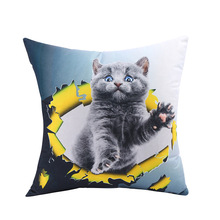 Case Automobile Cushion Cover Kitty Home Lovely Pillow Originality Cartoon Back