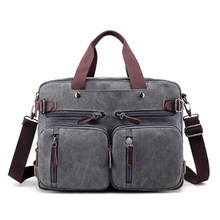 2020 Men Leisure Canvas Bag Multifunction Laptop Crossbody Handbag Travel Bags