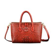 Women Bags Designer Shoulder Bag Fashion Handbag Crocodile Real Leather Ladies Hand Bag Large Tote Women Luxury Handbags Sac A стоимость