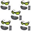 Упаковка из 5 200nm-2000nm IPL лазерные защитные очки CE OD5 + UV400 для Beaty & cosmetology с коробкой