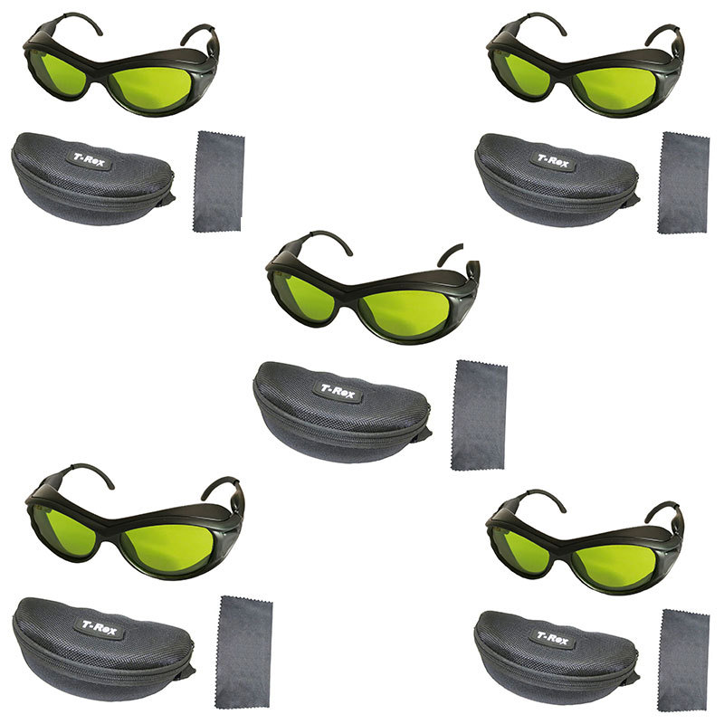 Pack Of 5 200nm-2000nm IPL Laser Protection Goggles Safety Glasses CE OD5+ UV400 For Beaty  &  Cosmetology With Box