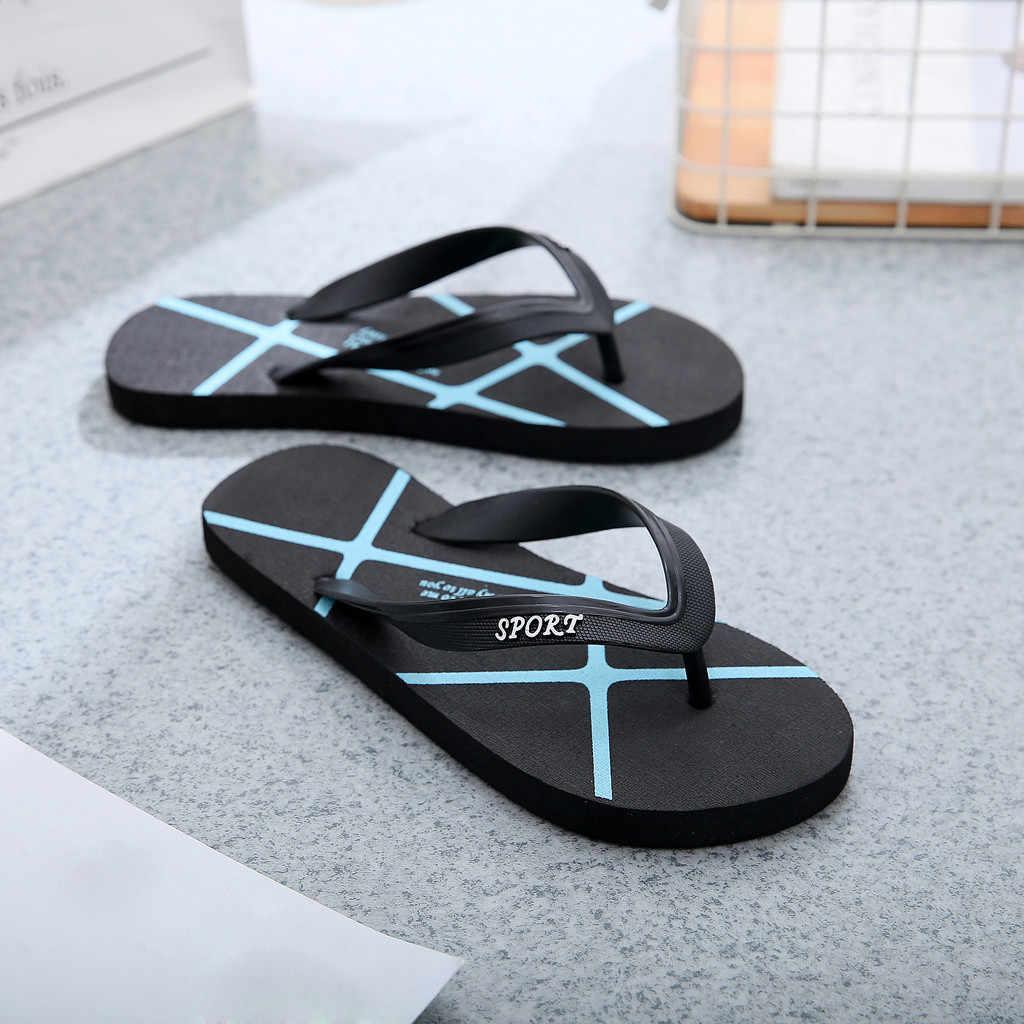 Musim Panas Sandal Jepit Pria Wanita Sepatu Pantai Slip Datar Bawah Pin Sandal Wanita Sepatu Sandal Sandal Тапочки Sloffen Kapcie 2020