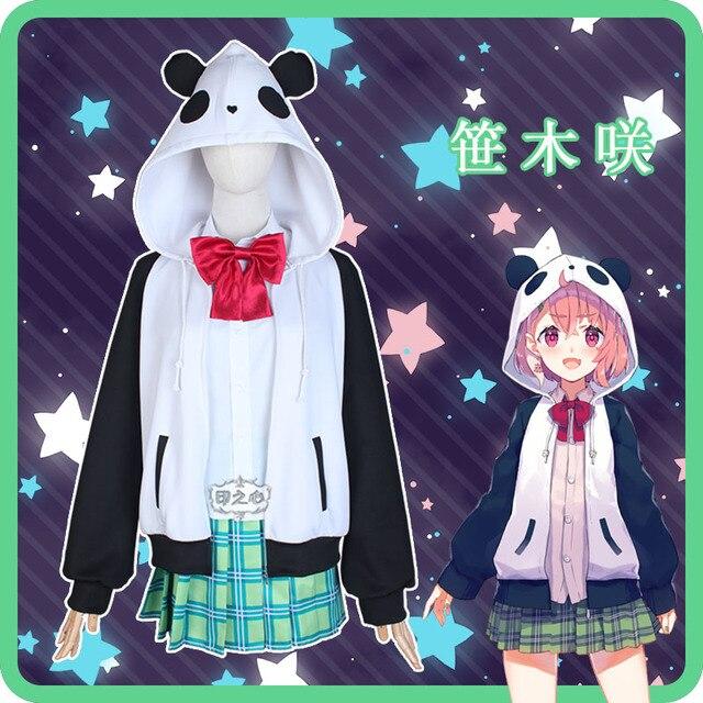 NIJISANJI Gamers Sasaki Virtual Idol Uniforms Cosplay Costume Free Shipping F 1