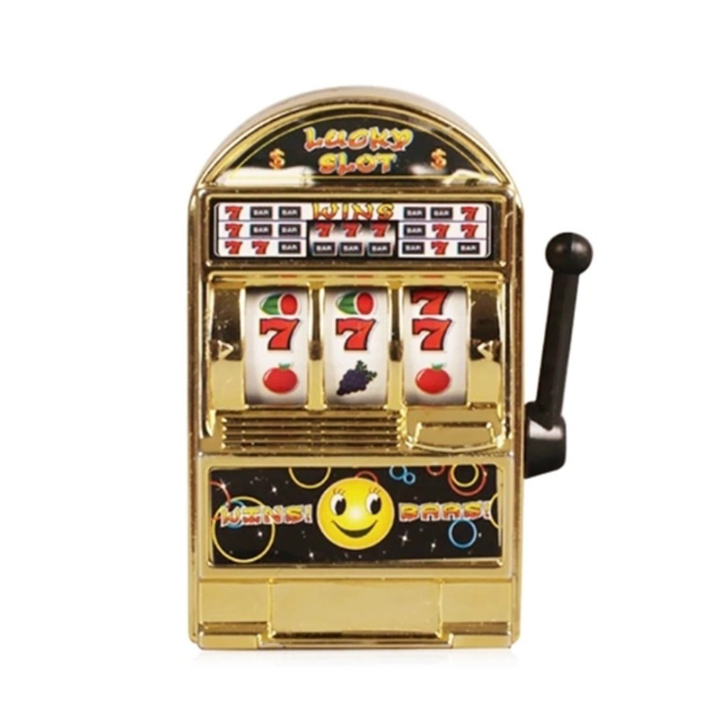 Hot Funny Toy Metal Mini Lucky Slot Machine Entertainment Tool For Fun Funny Toy Metal Mini Lucky Slot Machine Entertainment