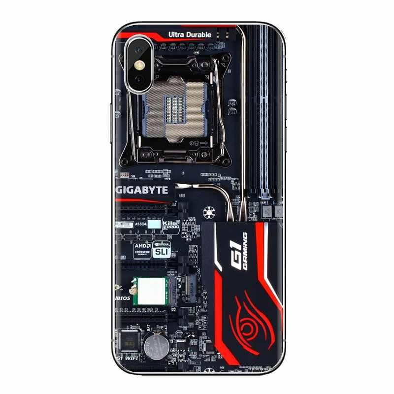 Suave cubierta de la caja para LG espíritu Motorola Moto X4 E4 E5 G5 G5S G6 Z Z2 Z3 G2 G3 C play Plus Mini placa base de ordenador placa de circuito