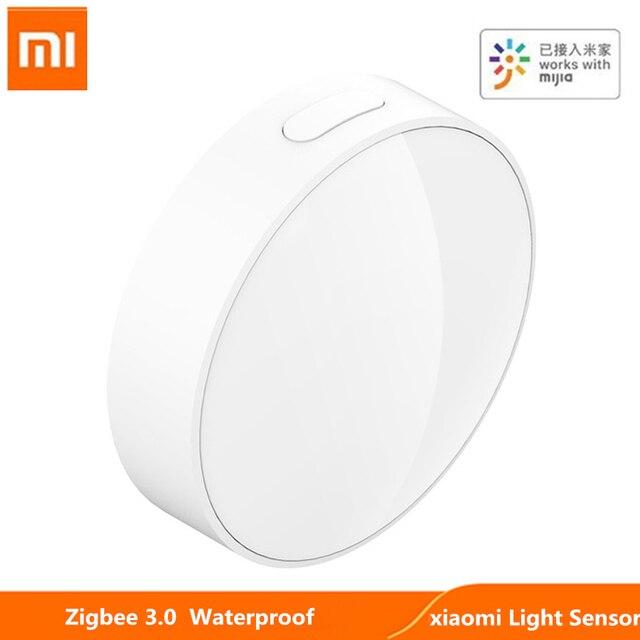 Original xiaomi Mijia Smart Light Sensor Zigbee 3.0 Light Detection Intelligent Linkage Waterproof work With Multimode Gateway 1
