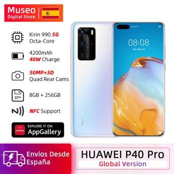 Купить Глобальная версия смартфона Huawei P40 Pro 8G 256G Kirin 990 5G камера с четырехкратным 50MP 6,58 'экраном SuperCharge 40W