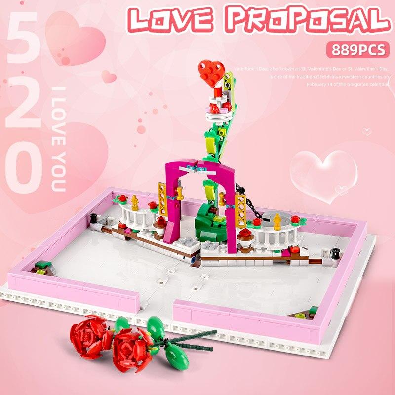 MOULD KING 10022 The MOC Romantic Love Proposal Book Set