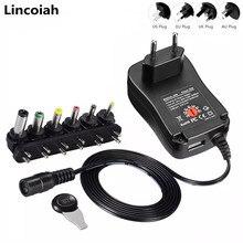 3V 4.5V 5V 6V 7.5V 9V 12V 2A 2.5A AC/DC 어댑터 조정 가능한 전원 공급 장치 LED 전구 스트립 cctv에 대 한 범용 어댑터 충전기