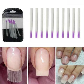 10Pcs Nail Form Fiberglass Quick Nail Art Extension Acrylic Tips Fiber Builder Easy application and adhesion in the final result image