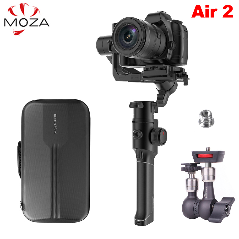 Moza Air 2 3-Axis Handheld Stabilizer W/ Bag For DSLR Mirrorless Camera For Sony A7 Canon 5D Vs Feiyu AK4000 DJI Ronin S Crane 2