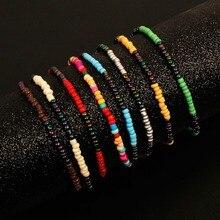 8 Pcs/ Set Bohemian Ethnic Colorful Beads Bracelet Ladies Hand Accessories Adjustable Bracelets for Women