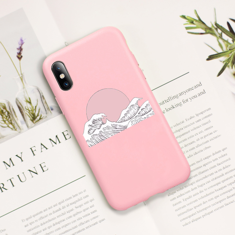 Black Friday Japanese Harajuku Wave Art Case For Iphone 8plus Case For Iphone 6 6s 7 8 Plus Cover For Iphone Xr 11 Pro Xs Max Fitted Cases Aliexpress