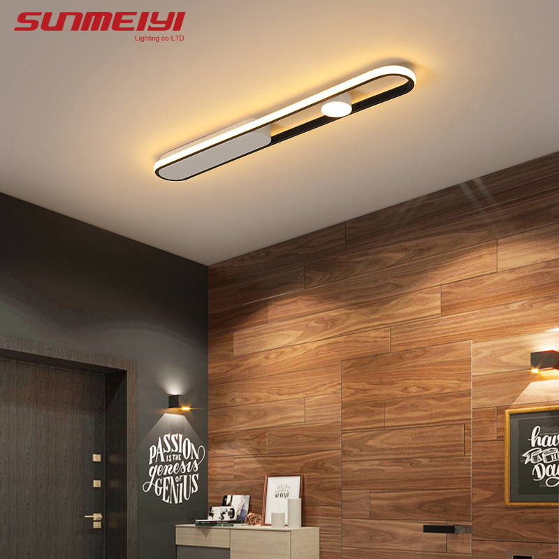 Modern Ceiling Lights Corridor Bedroom Kitchen Office Lamp Nordic Living Room Ceiling Light Black White Suspension Luminaire