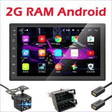 Автомагнитола 2 Din на Android, мультимедийный видеоплеер с GPS для Volkswagen, Nissan, Hyundai, Kia, toyota, LADA, Ford, Chevrolet, ISO, 2 Гб ОЗУ