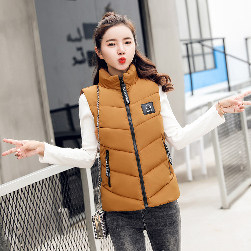 Cheap Wholesale 2019 New Autumn Winter  Hot Selling Women's Fashion Casual Female Nice Warm Vest Outerwear MP831