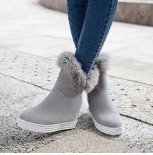 2019 New Women Shoes Warm Fur Women Boots Female Winter Boots Flat Winter Shoes Women Ankle Boot Snow Boots Bota Women Booties стоимость