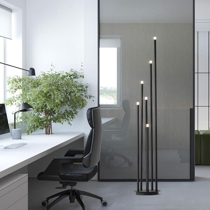 Minimalist Floor Lamp Nordic Designer Living Room Study Personality Atmosphere Lamp Office Simple Led Creative Vertical Lamp