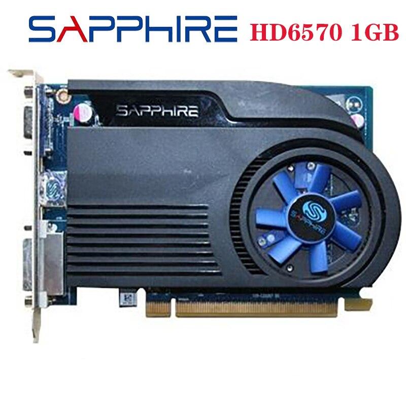 Б/у SAPPHIRE видеокарты HD6570 1 ГБ GDDR3 AMD, графическая карта GPU Radeon HD 6570, офисный компьютер для AMD Card HDMI оригинал-0