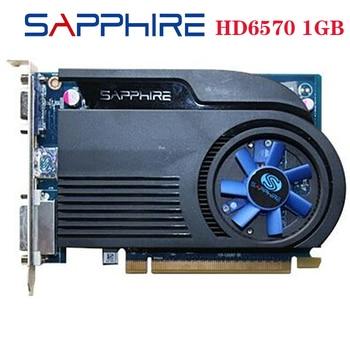 Б/у SAPPHIRE видеокарты HD6570 1 ГБ GDDR3 AMD, графическая карта GPU Radeon HD 6570, офисный компьютер для AMD Card HDMI оригинал