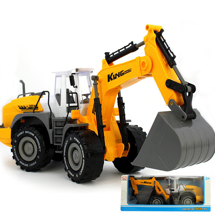 Large Size Children Forklift Bulldozer Toy Inertia Engineering Vehicle Model Beach Toy Car