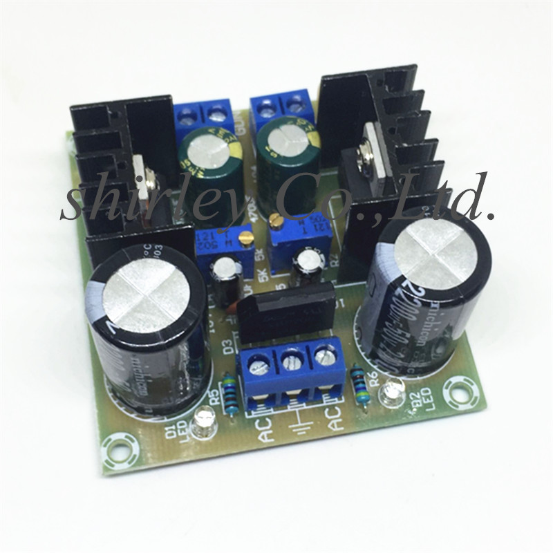 Fused Adjustable Dual-Power LM317 Power-Supply-Board/electronic-Component Lm337/negative