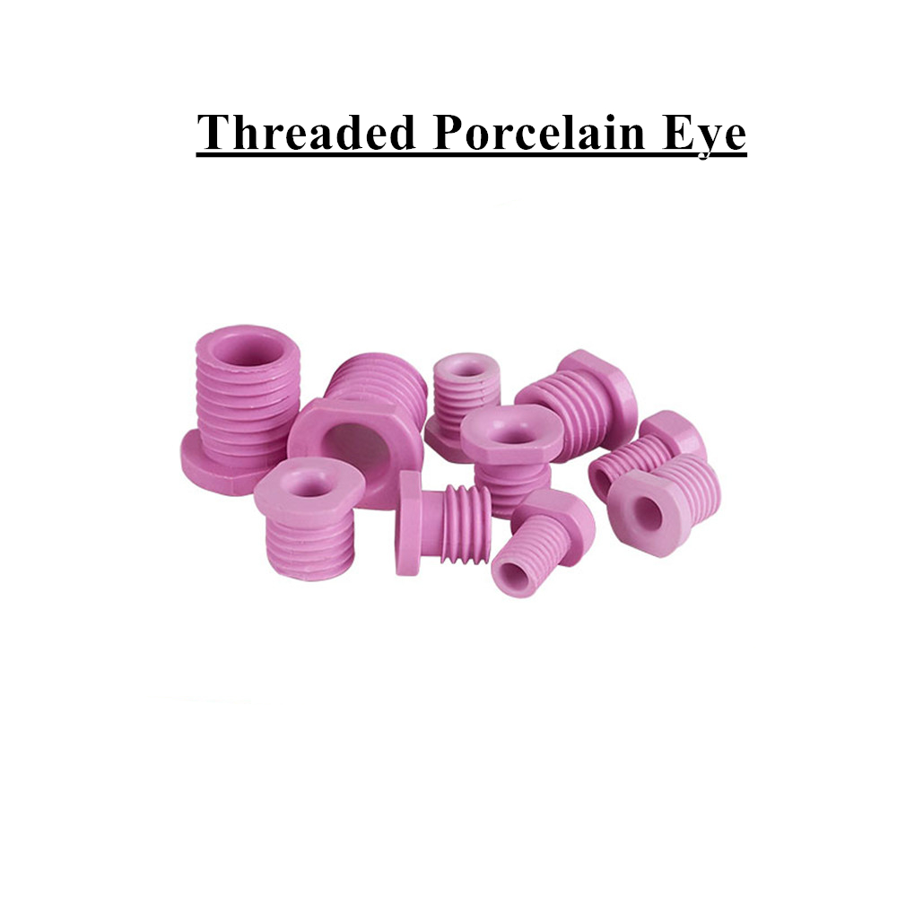95 Alumina Ceramic Eye Hollow Threading Nozzle of Threaded Porcelain Eye Alumina Ceramic Screw Textile M8M12M14M16M18M20M24
