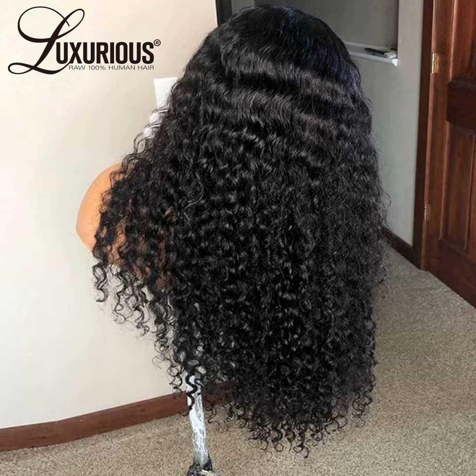 150% kręcone ludzkie włosy peruka z dzieckiem włosy pre-oskubane koronki przodu włosów ludzkich peruk dla kobiet brazylijski Remy włosy bielone węzłów