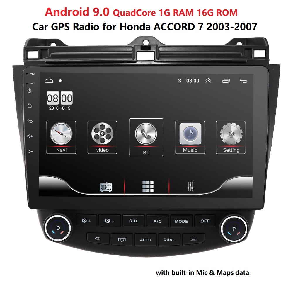 Gps-Player 2003-2007 Android 9.0 Honda Accord Navigation Car-Radio TV for 7-Car SWC RDS