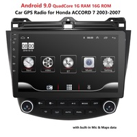Android 9.0 Car Radio No DVD GPS Player Navigation For 2003 2007 Honda Accord 7 Car Multimedia Player SWC RDS TPMS DTV BT USB PC