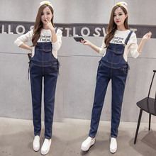 Denim Maternity Strap Bib Jeans Trousers Suspenders Pants for Pregnant Women Overalls Jumpsuits Pregnancy Clothing Plus Size [wheat turtle]brand maternity jeans pregnancy clothes denim overalls skinny pants trousers clothing for pregnant women plus size
