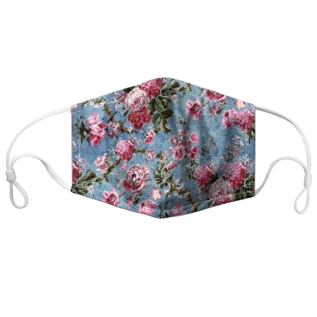Flower Print  Fashion PM2.5 Adults Anti-Dust Face Mouth PM2.5 Breathable Washable Reusable Protective 3D Printed Face Mask