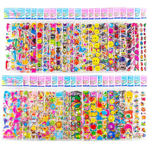20 Sheets Stickers for Kids Girls Boys Different Bulk Stickers 3D Puffy Assorted Scrapbook Stickers Cartoon Princess DIY Toys(China)
