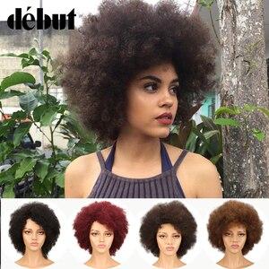 Debüt Perücke Menschenhaar Afro Lockige Bob Perücke Lockiges Menschliches Haar Perücken 10 farbe Kann Wählen Kurze Perücken Für Schwarz frauen Freies Verschiffen